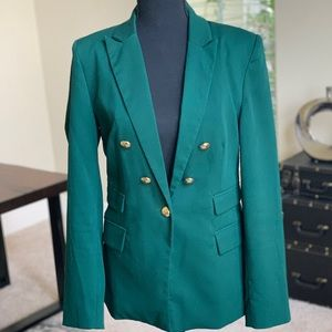Double-Breasted Green Jacket